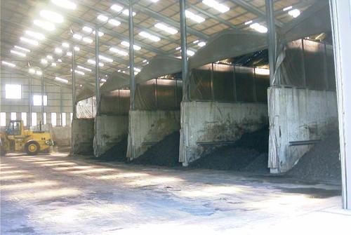 汚泥処理工場内観写真